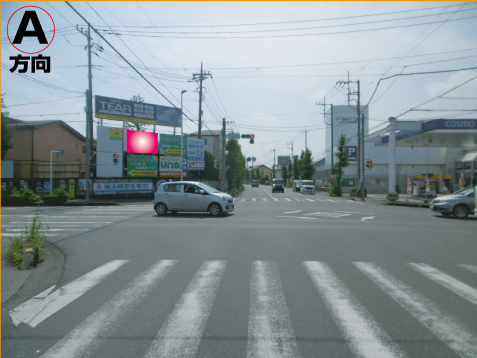 越谷市・産業道路+県19花田西交差点