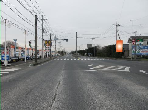 蓮田市・R122上りバイパス旧道分岐交差点