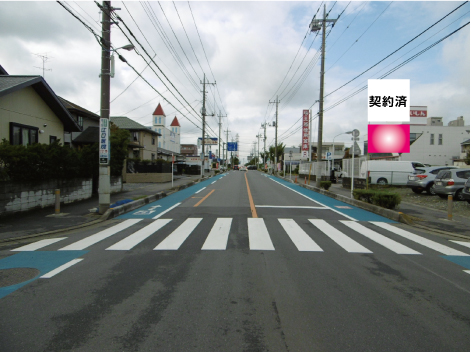 伊奈町・県道5号線 夢庵交差点手前
