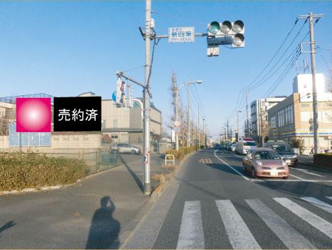 東京都板橋区・松月院通り新四葉交差点