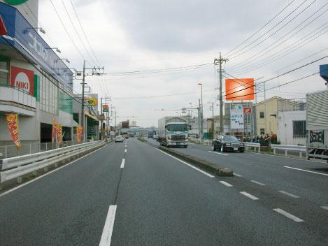川越市・R16号関越川越インター出口付近(入間方面)