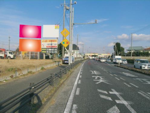 千葉県野田市・ 国道16号・東金野井歩道橋交差点手前
