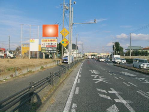 千葉県野田市・R16号東金野井歩道橋交差点手前