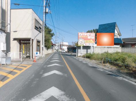 幸手市・県道153号 秋谷病院前
